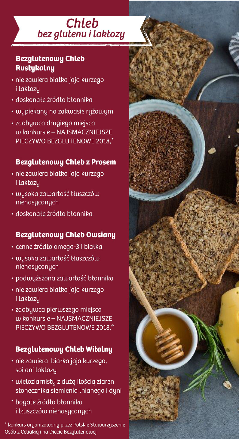 Chleb bez glutenu i laktozy